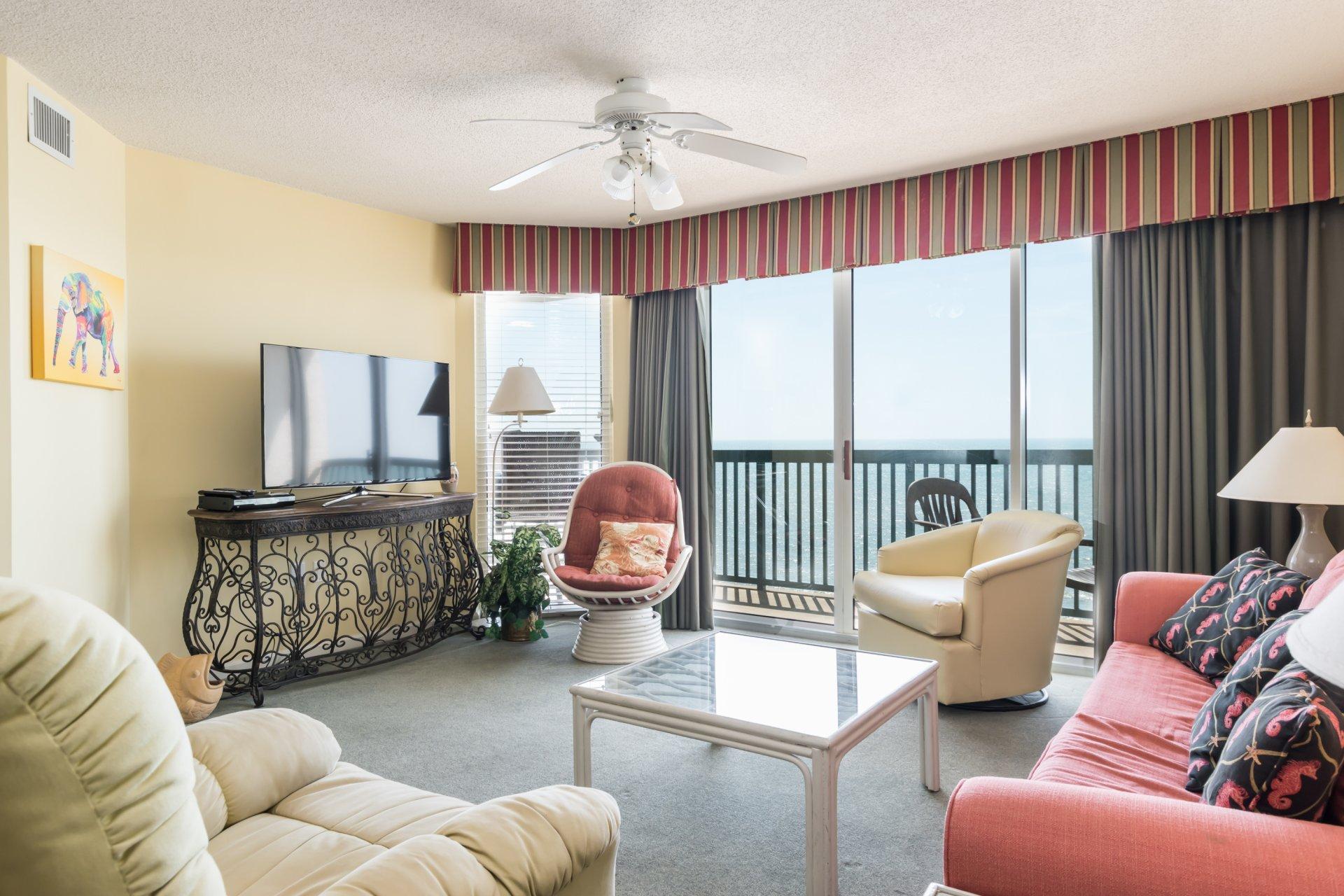 ashworth  1203  ocean front condo north myrtle beach rental
