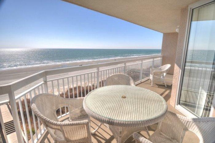 Crescent Shores S 407 Ocean Front Condo North Myrtle Beach Rental