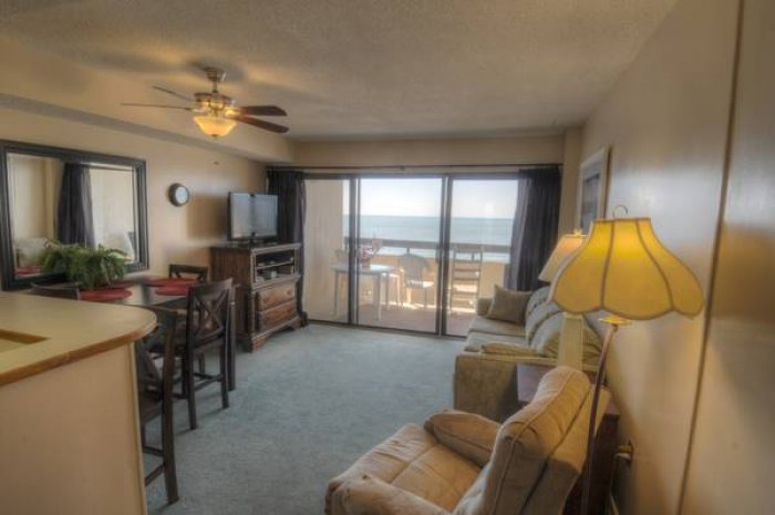 Sea pointe 505 ocean front condo north myrtle beach for Dining room operations