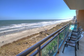 Gorgeous view of the coastline from balcony