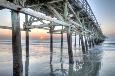 The Cherry Grove Pier In North Myrtle Beach