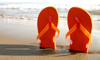 Flipflops are great for the beach