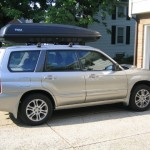 SUV with rooftop carrier