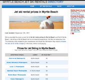 Jet ski rentals rates in Myrtle Beach
