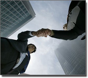 Real Estate Management Handshake