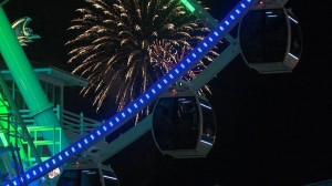 Myrtle Beach skywheel fireworks