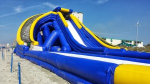 Triple water slide