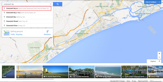 Use Google Maps to search for the CondoLux luxury unit you are interested in renting.