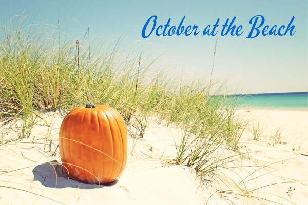 October Pumpkin on beach