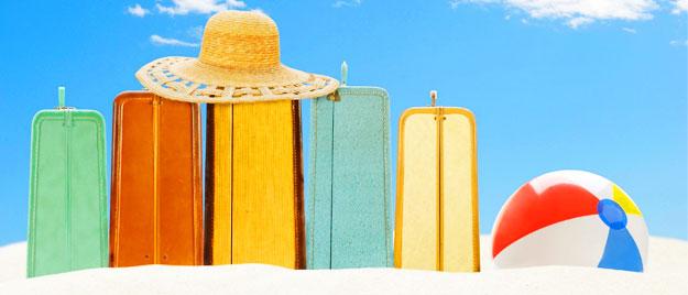 Luggage on Beach