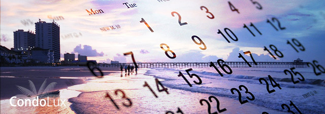 Winter Beach Calendar