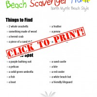 North Myrtle Beach Scavenger Hunt
