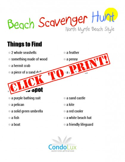 Family Activity Time: Beach Scavenger Hunt (printable pdf list included!)