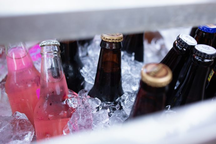 cooler drinks on ice